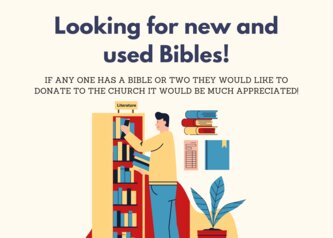 looking for new and used bibles!