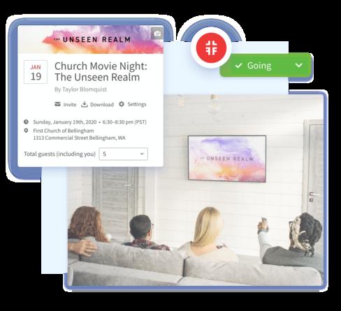 Screenshot of host a church movie night.