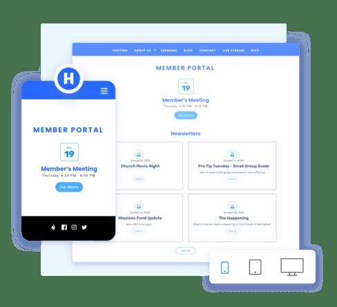 Screenshot of Mobile friendly designs.