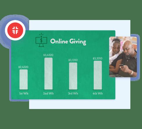 Screenshot of Track giving.