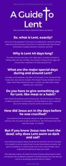 Lent Infographic
