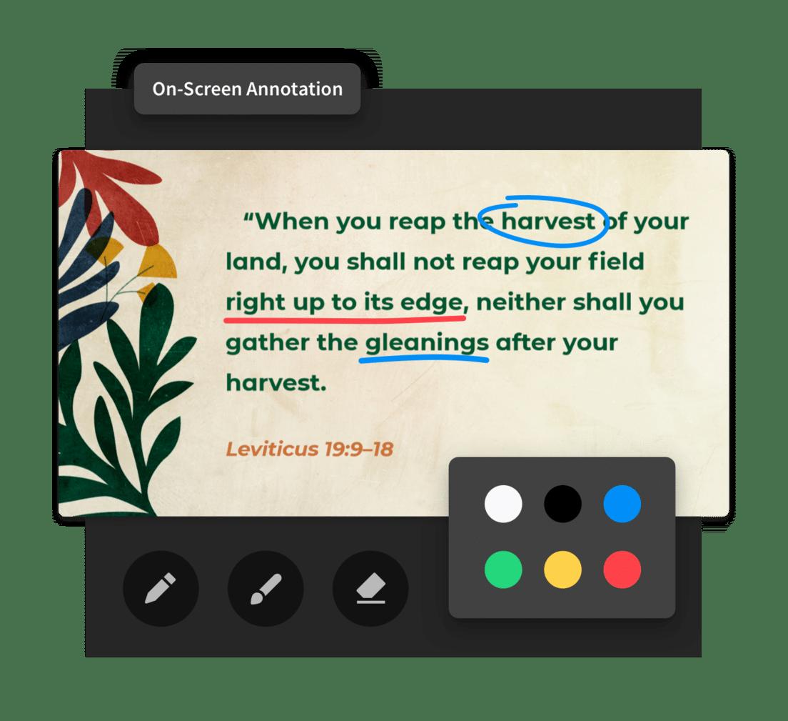 Annonate Slides