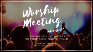 Worship Meeting Slide