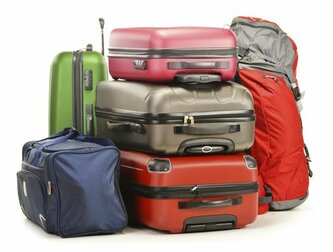Luggage consisting of suitaces, backpack and travel bag