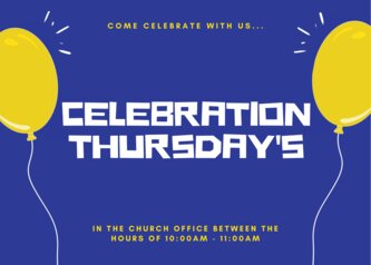 come celebrate with us...