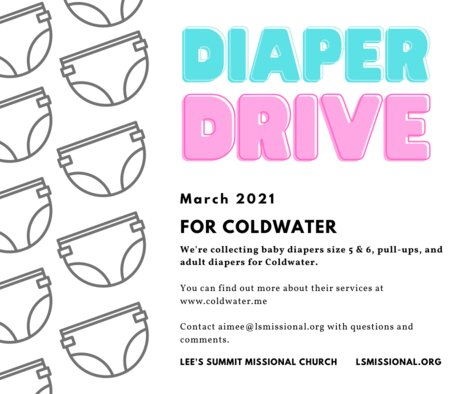 Copy of Copy of Diaper Drive: Coldwater.me