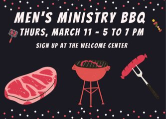 Men's ministry BBQ has been Canceled