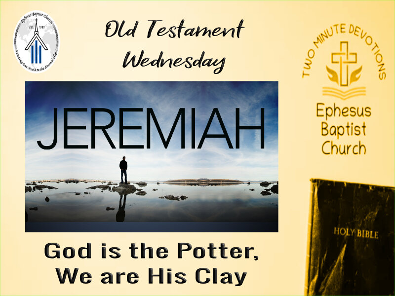 God is the Potter, We are His Clay