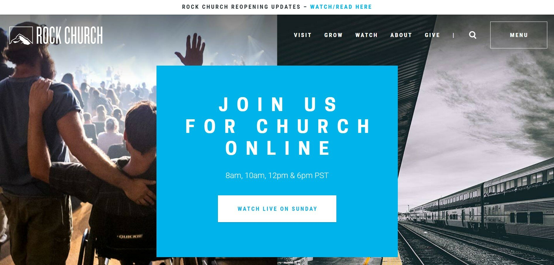 The Rock Church has one of our favorite church websites.