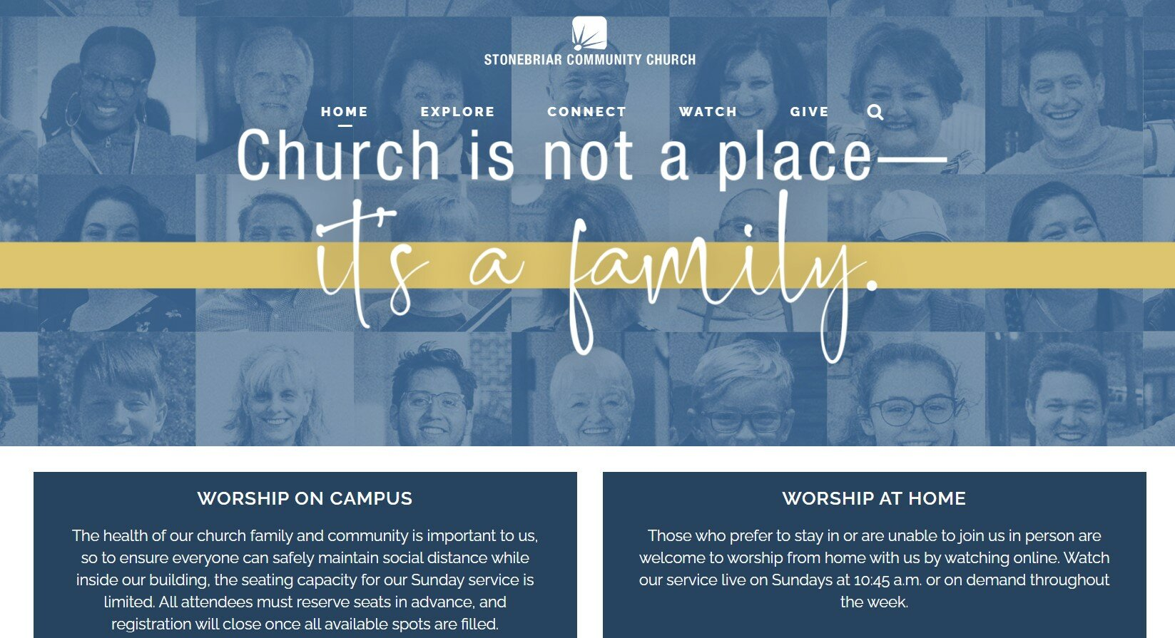 Stonebriar Community Church has one of our favorite church websites.