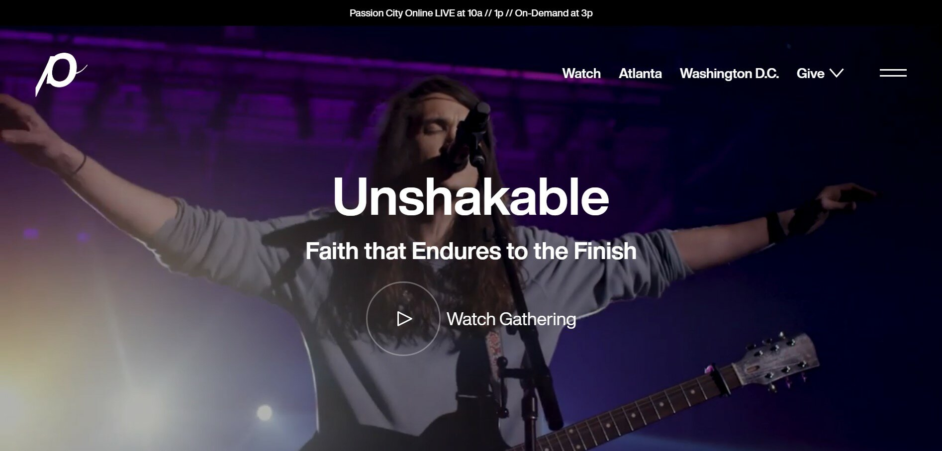 Passion City Church has one of our favorite church websites.
