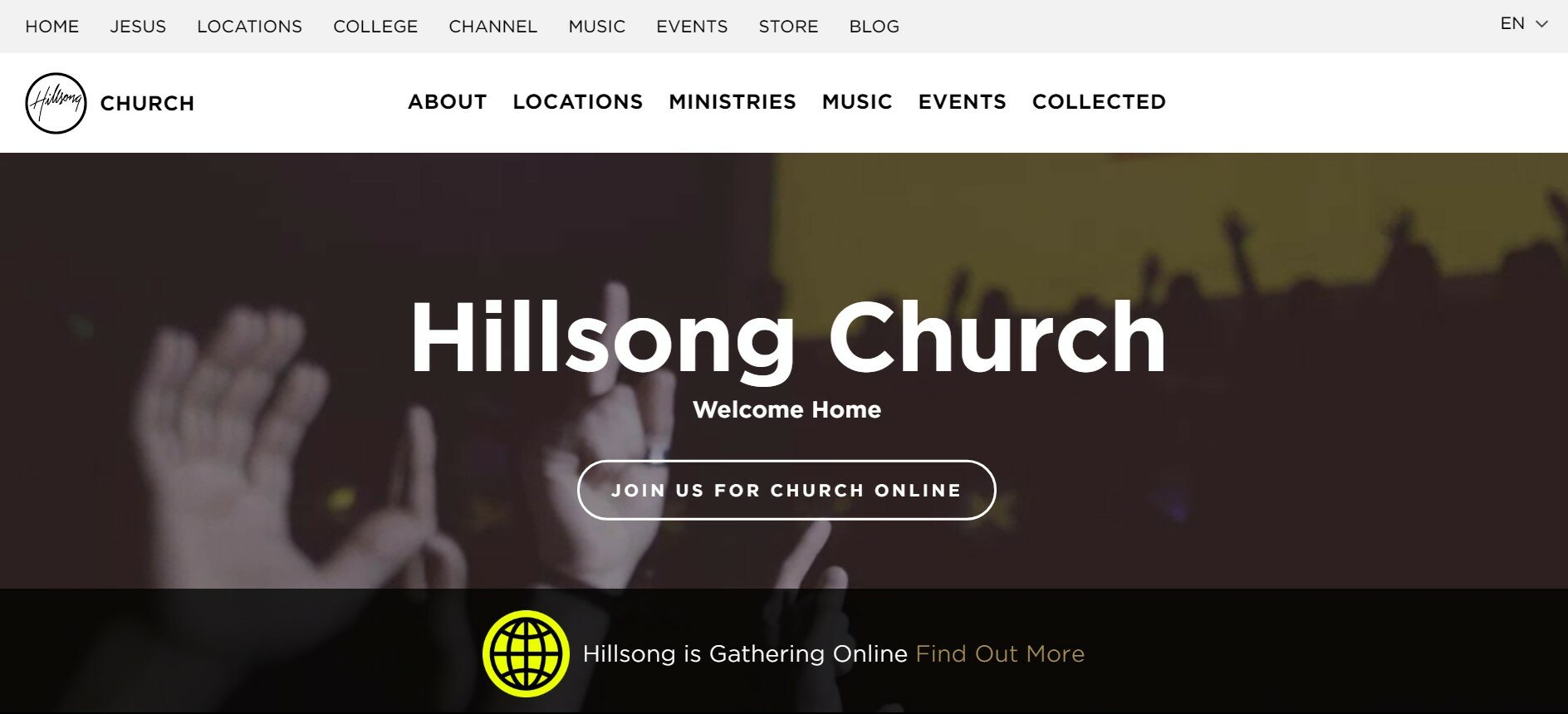 Hillsong Church has one of our favorite church websites.