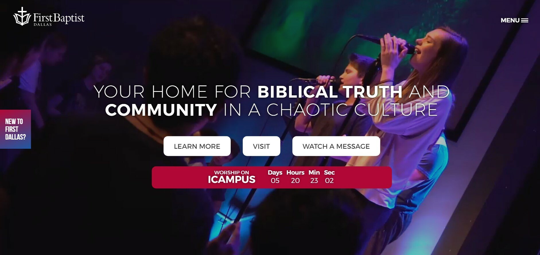 First Baptist Church Dallas has one of our favorite church websites.