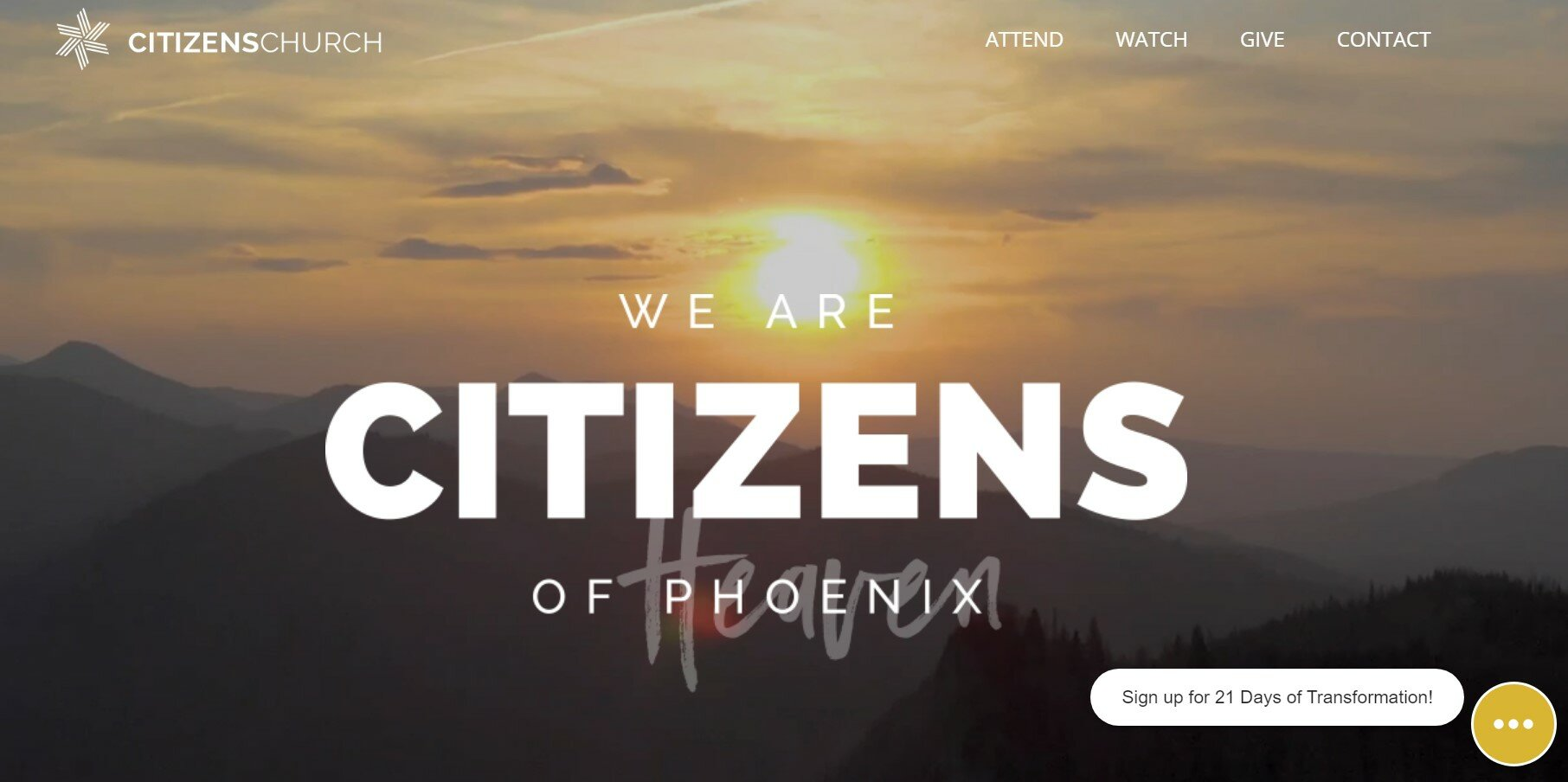 Citizens Church has one of our favorite church websites.