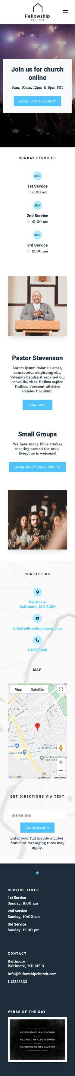 Fellowship Theme Screen Shot