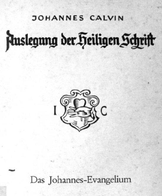 Calvin Johannesevangelium