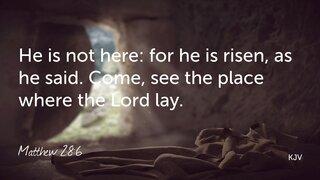 Matthew 28-6