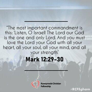 Mark 12 29-30