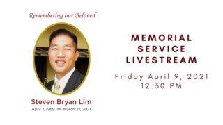 Memorial Service livestream