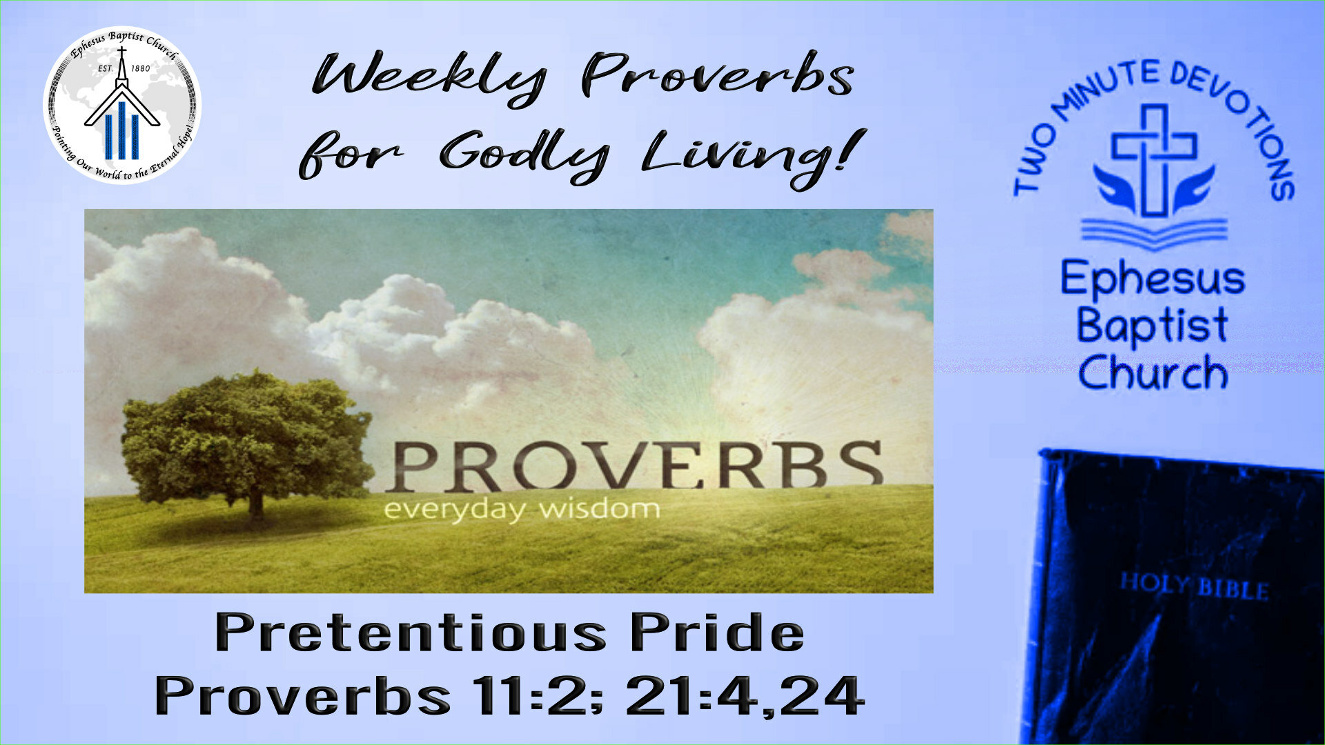 Weekly Proverbs for Godly Living!