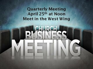 Business Meeting April