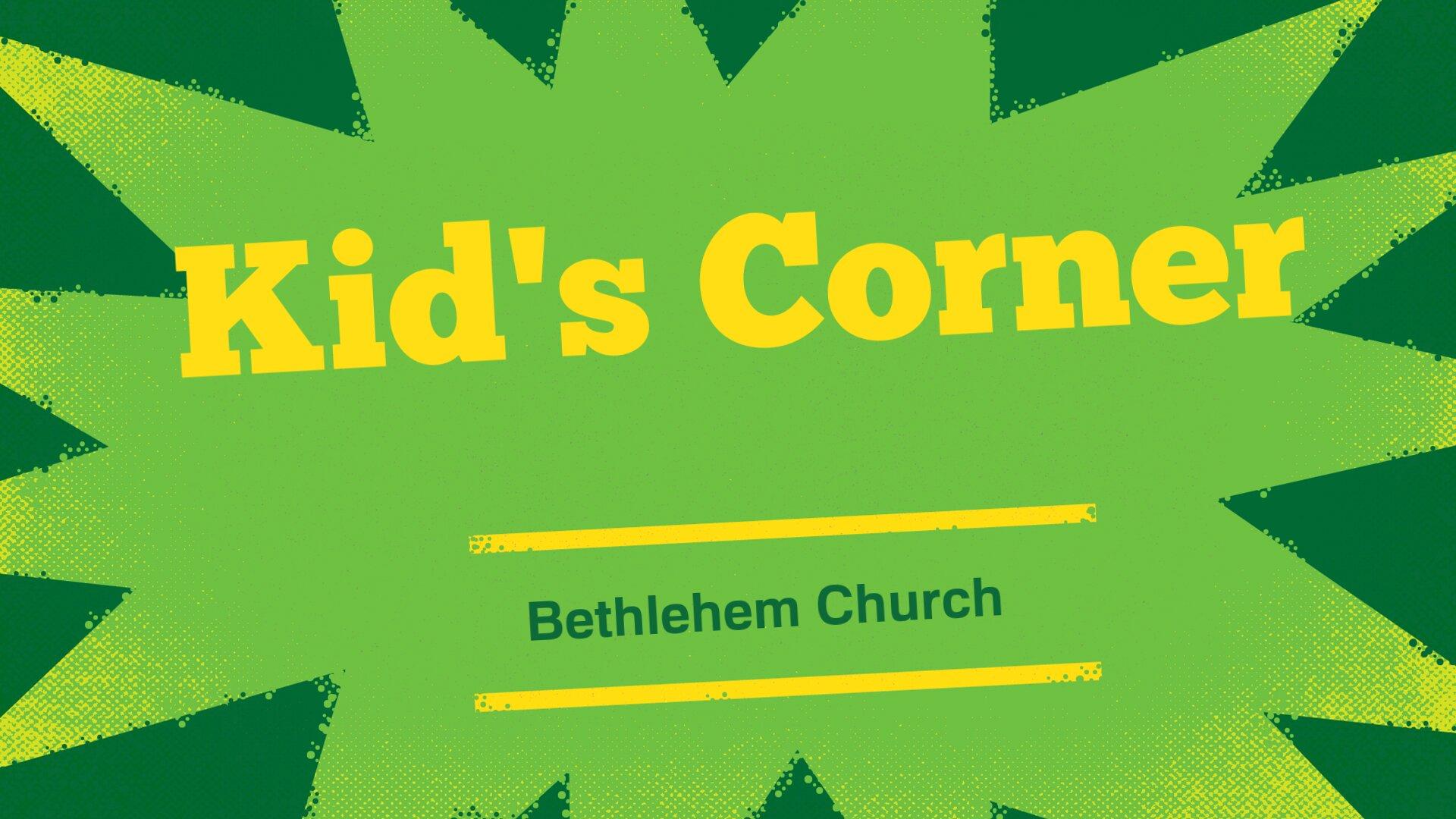 Kid's Corner Launch!
