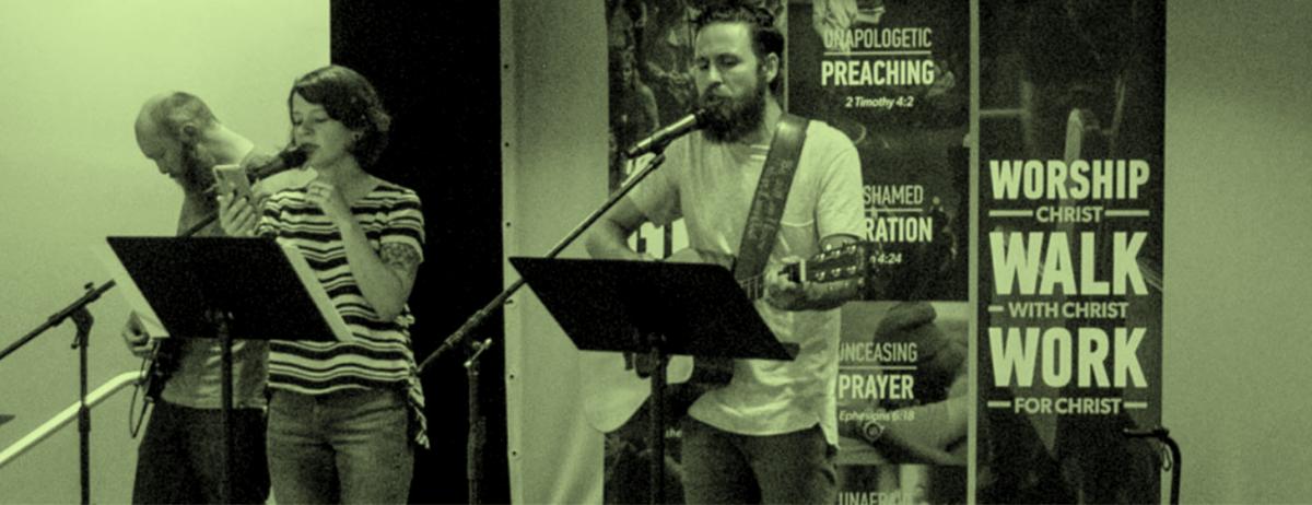 Pastoral Case Study, 3 People leading praise service