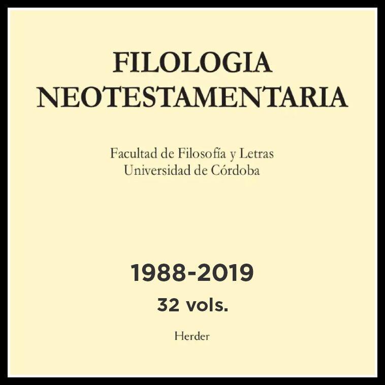 Filología Neotestamentaria, 32 volumes (1988-2019)