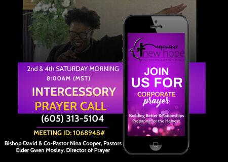 Intercessory Prayer Call Flyer GAP