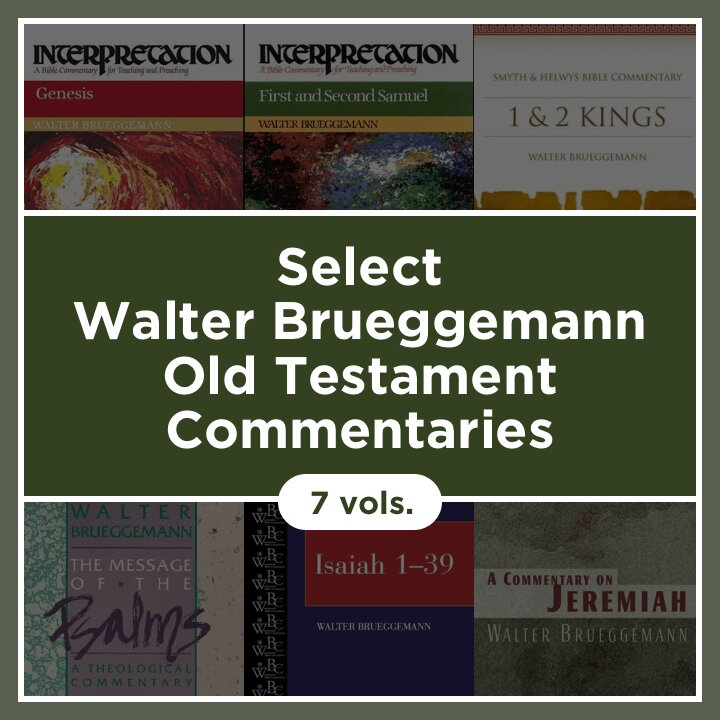 Select Walter Brueggemann Old Testament Commentaries (7 vols.)