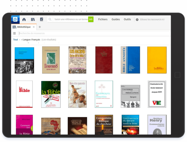 Nombreux livres dans Logos