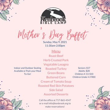 Kenbrook Announcment Mothers Day