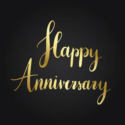 Happy anniversary typography style vector