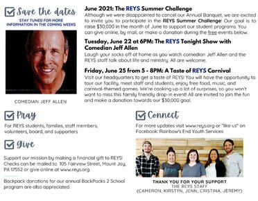 REYS Upcoming Events