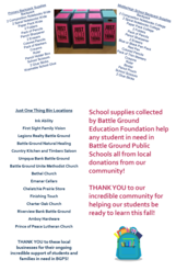 Flyer School Supply Drive 2