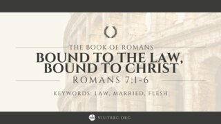 Romans Series May 9