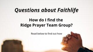Questions About Faithlife Prayer Team