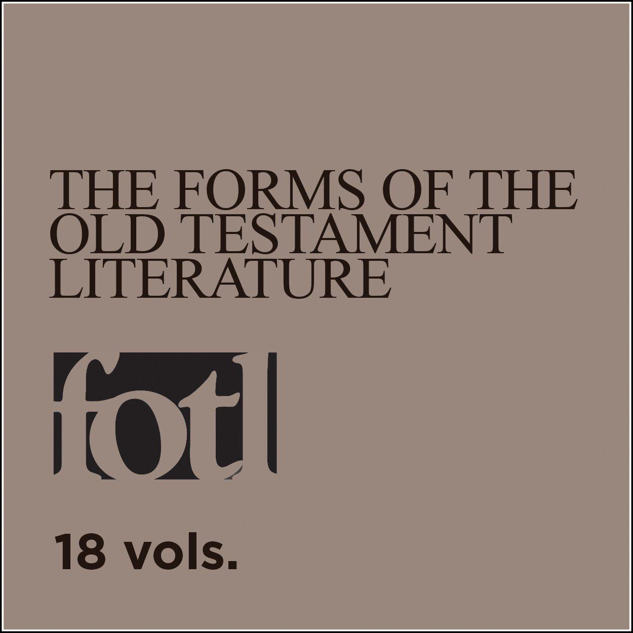 Forms of the Old Testament Literature Series | FOTL (18 vols.)