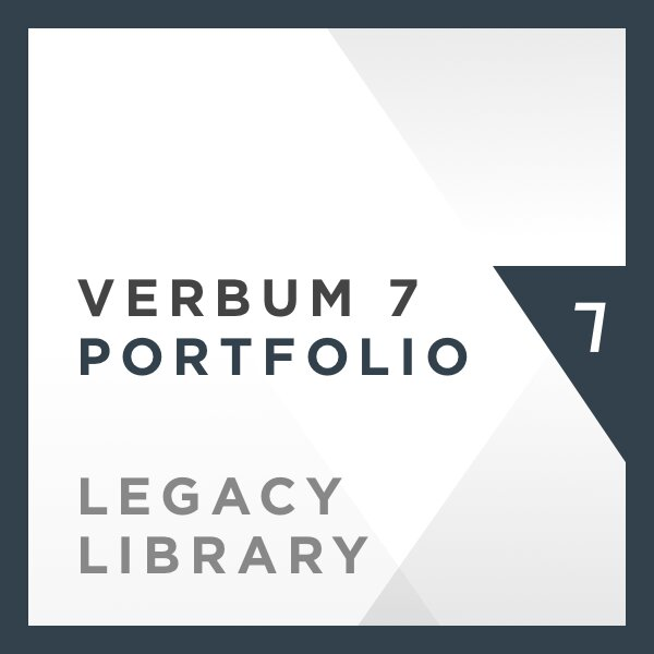 Verbum 7 Portfolio Legacy Library