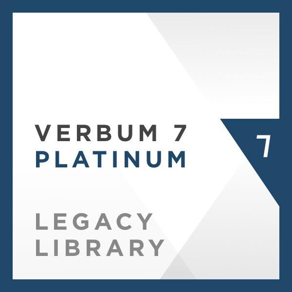 Verbum 7 Platinum Legacy Library