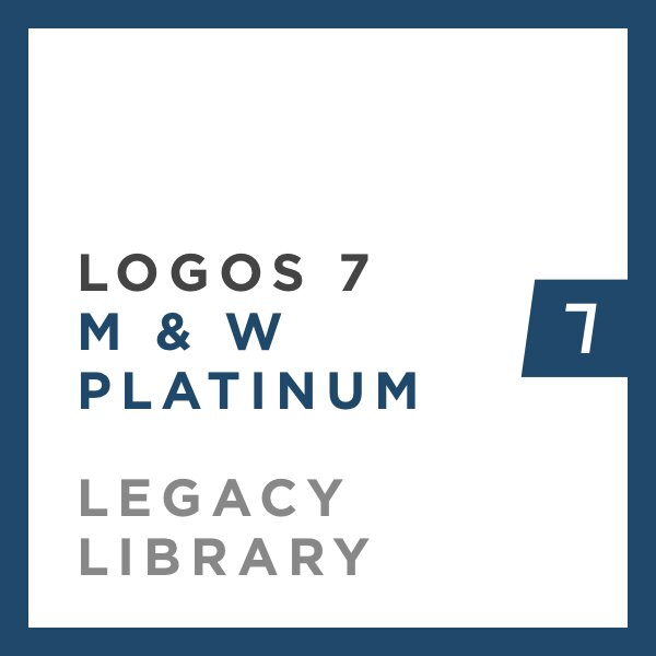 Logos 7 Methodist & Wesleyan Platinum Legacy Library