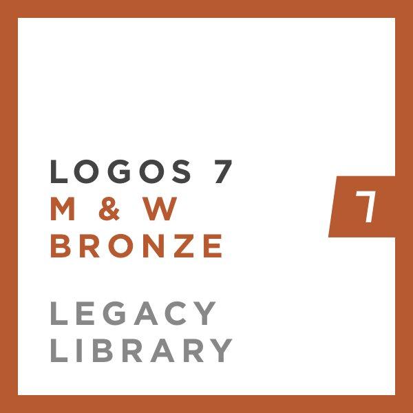 Logos 7 Methodist & Wesleyan Bronze Legacy Library