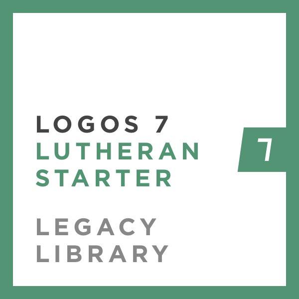 Logos 7 Lutheran Starter Legacy Library