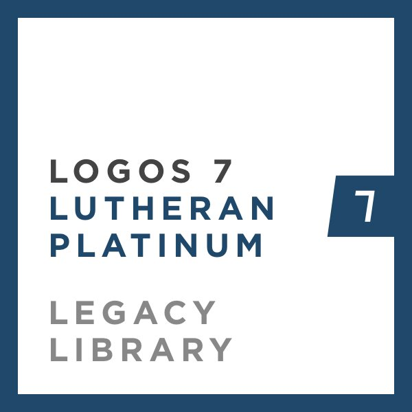 Logos 7 Lutheran Platinum Legacy Library