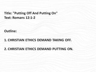 Sermon Outline