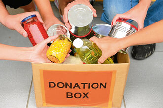 A generic photo of a food donation box. See PA Feature TOPICAL Food Poverty. Picture credit should read: PA Photo/thinkstockphotos. WARNING: This picture must only be used to accompany PA Feature TOPICAL Food Poverty.