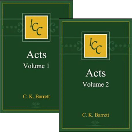 Acts, Volumes 1-2 (International Critical Commentary Series | ICC)