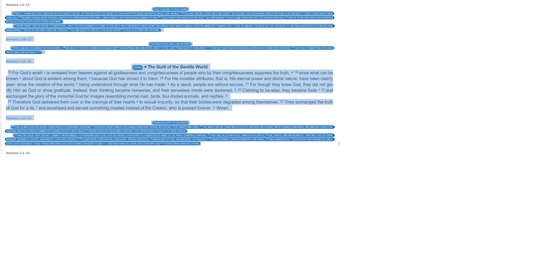 Highlighting Bible Browser