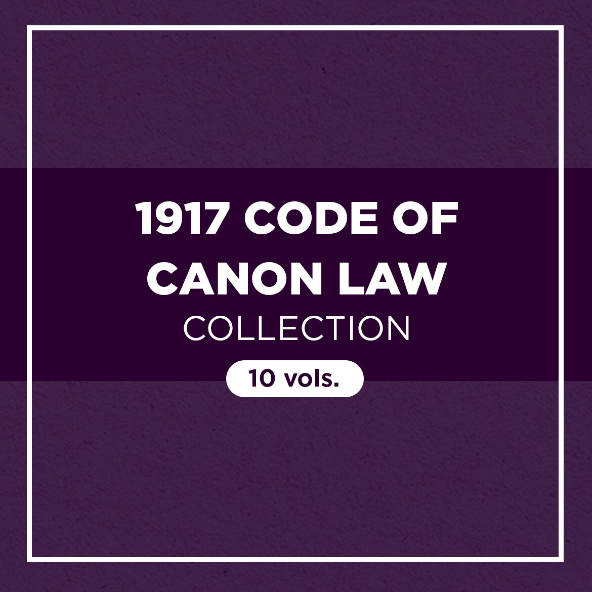 1917 Code of Canon Law Collection (10 vols.)