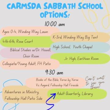 CArmsda Sabbath School Options!